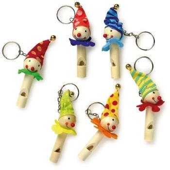 """Schlüsselanhänger und Flöten """"Clowns"""" -verschiedene Varianten-"""