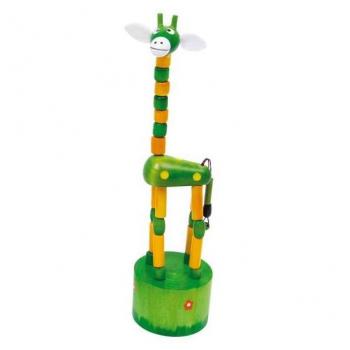"""Drück-Giraffen """"Alfis"""" -grün-"""