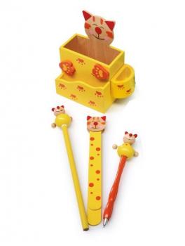"""Stiftebehälter """"Katze"""", gelb"""