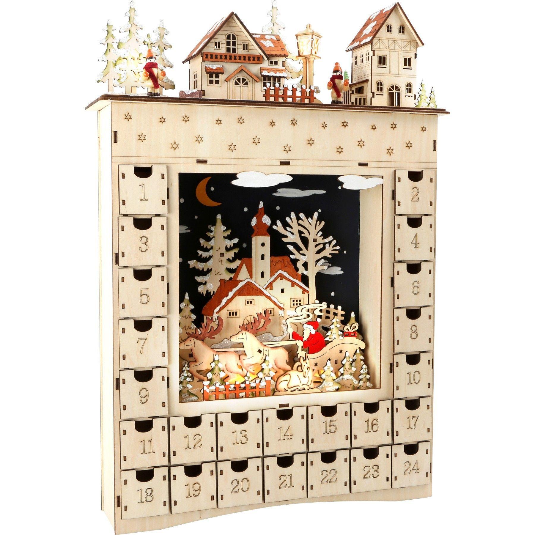 adventskalender aus holz wintertraum. Black Bedroom Furniture Sets. Home Design Ideas