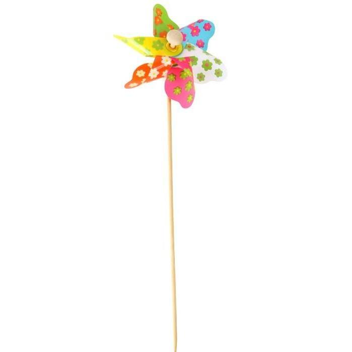 Windrad bunt klein windr dchen deko blumentopf mini for Deko blumentopf