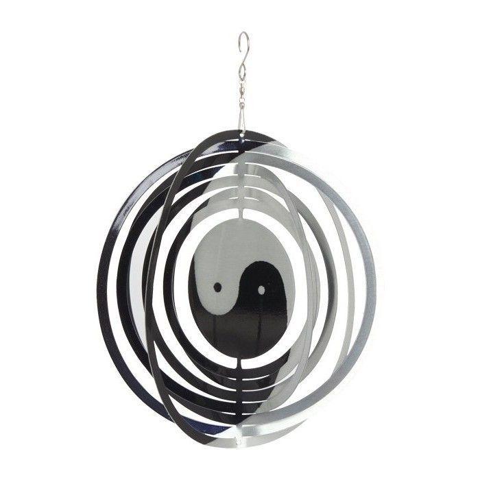 windspinner yin und yang gartendekoration hochwertig und individuell. Black Bedroom Furniture Sets. Home Design Ideas