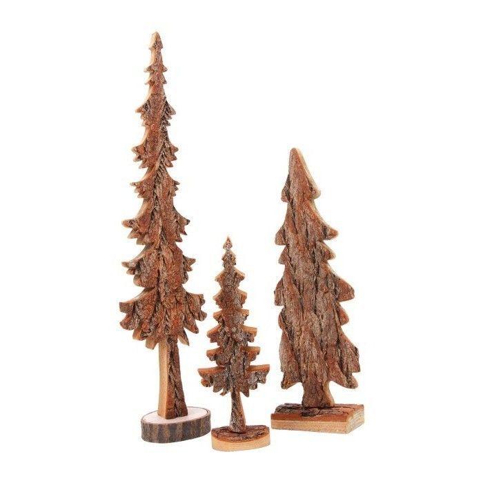 3er set holzbaum baum tanne deko weihnachten. Black Bedroom Furniture Sets. Home Design Ideas