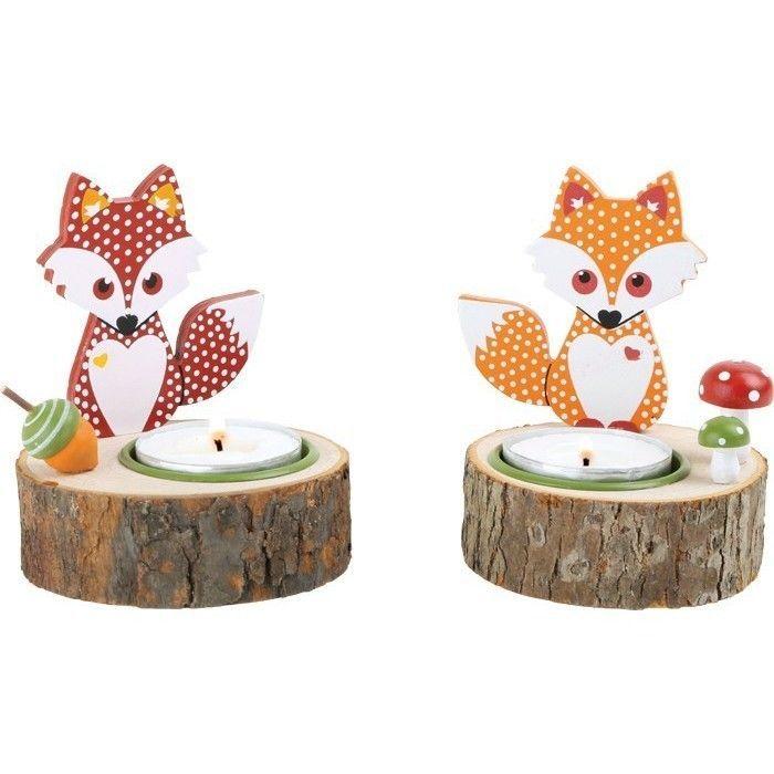 Teelichthalter Fuchs Verschiedene Varianten Herbstlich