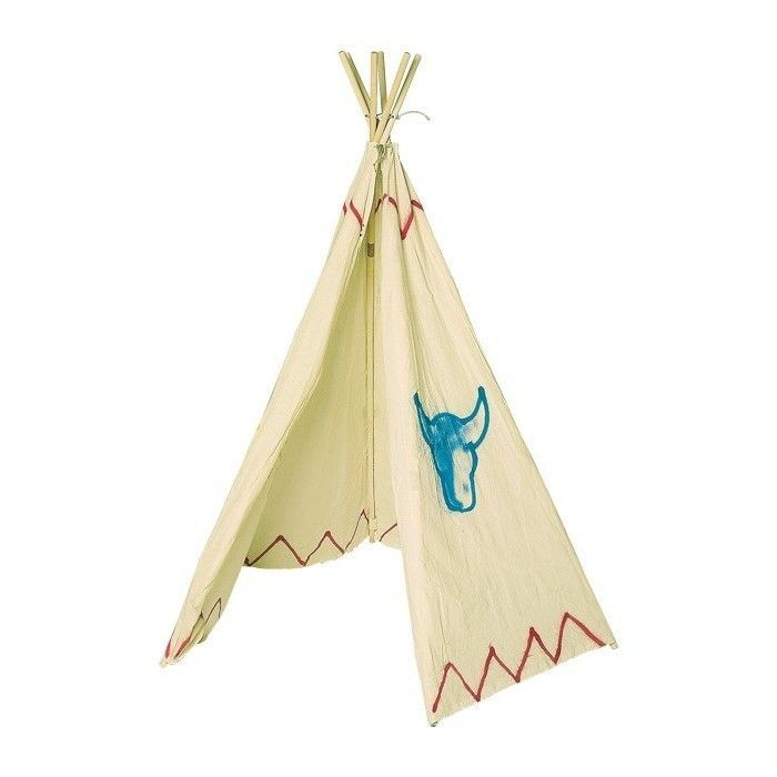 indianerzelt kinder kinderzelt indianer cowboy tipi zelt thipi spielzelt garten ebay. Black Bedroom Furniture Sets. Home Design Ideas