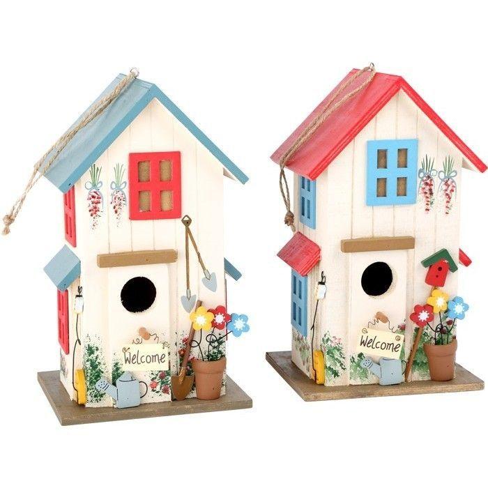 vogelhaus villa kunterbunt verschiedene farben gartendekoration hochwertig und individuell. Black Bedroom Furniture Sets. Home Design Ideas