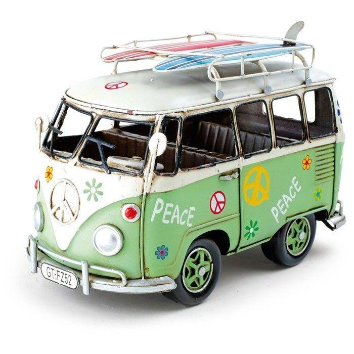 hippie bus vintage retro deko vw bulli 70er dekoration. Black Bedroom Furniture Sets. Home Design Ideas