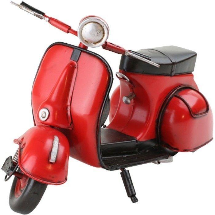 Roter roller wespe vespa vintage deko dekoroller nostalgie - Roller deko ...