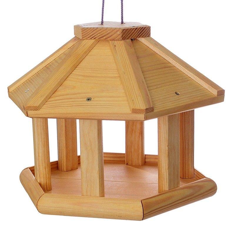 vogelhaus rund vogelh uschen holz natur robust futterhaus futterh uschen h ngen ebay. Black Bedroom Furniture Sets. Home Design Ideas