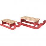 Deko-Schlitten aus Holz -2er Set-