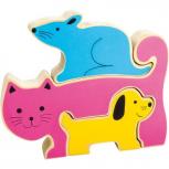 Puzzle Hund, Katz & Maus