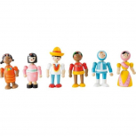 Holzfiguren Menschen der Welt Flexibel -verschiedene Varianten-
