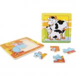 Rahmenpuzzle Tierfamilie -2er Set-