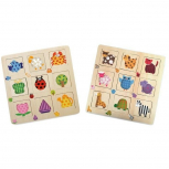 Holzpuzzle Musterzuordnung -2er Set-