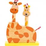 Spring-Spiel Giraffenköpfe
