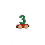 Zahlenzug mit Magneten -Zahl 3-
