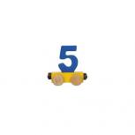 Zahlenzug mit Magneten -Zahl 5-