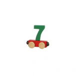 Zahlenzug mit Magneten -Zahl 7-