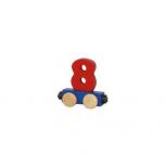 Zahlenzug mit Magneten -Zahl 8-