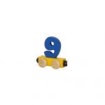 Zahlenzug mit Magneten -Zahl 9-